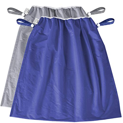 Diaper Pail Liner 2 Pack,Water-Resistant, Large Capacity Washable Wet Bag for Cloth Diaper, Laundry, Kitchen Garbage, Grey and Navy