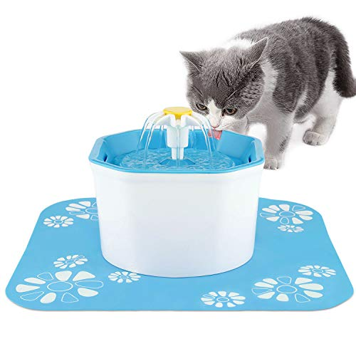 BOBEastal Cat Water Fountain, Quiet Pet Water Fountain Automatic Super Cat Fountain Healthy Hygienic Fresh Water Drinking Bowl for Cats,Dogs,Birds and Little Animals (Blue)