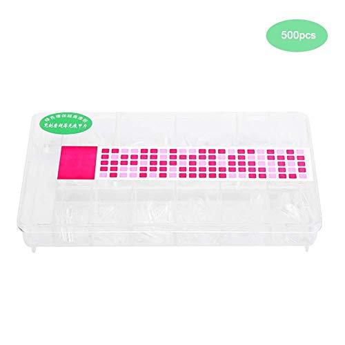 Liukouu False-Ongles, 500pcs Professionnel Gel Acrylique UV Gel Faux Nail Art Conseils Outil avec boîte pour s'habiller(500pcs Couleur Transparente)