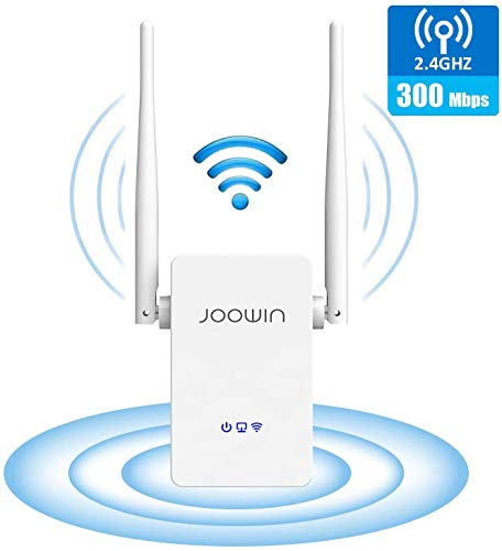 JOOWIN WLAN Repeater 300 Mbit/s WLAN Verstärker 2,4GHz WiFi Range Extender mit Ethernet-LAN/WAN Port WPS WiFi Repeater/AP/Router Modus WLAN-Signal Verstärker Kompatibel zu Allen WLAN Geräten (Weiß)