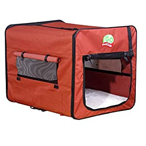 Go Pet Club AB18 Soft Dog Crate, Brown – 18 in.