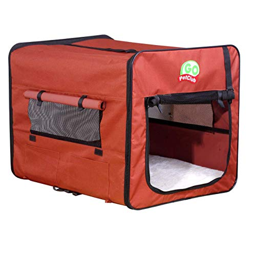 Go Pet Club AB18 Soft Dog Crate, Brown - 18 in.