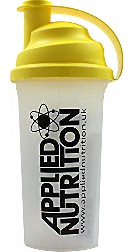 Applied Nutrition Shaker Proteinshaker Eiweißshaker Eiweiß Protein Shaker Schwarz/gelb 700ml Fassungsvermögen