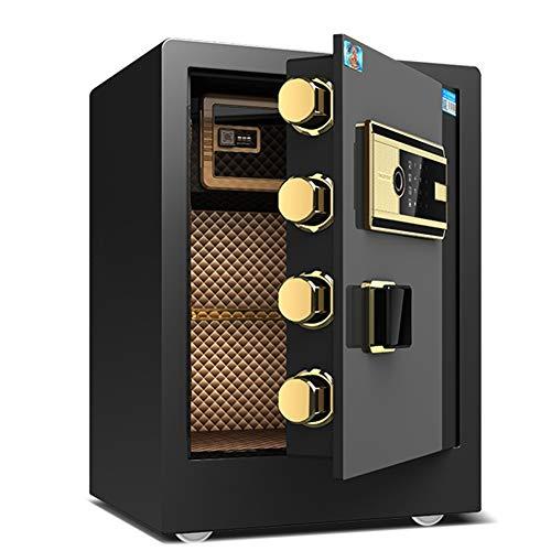 Cassaforte YXX Cassetta di Sicurezza 45 Cm di Altezza Cassetta di Sicurezza per Impronte Digitali Impermeabile A Prova di Fuoco, Casseforti per Armadietti di Sicurezza per Uffici Domestici per Docum