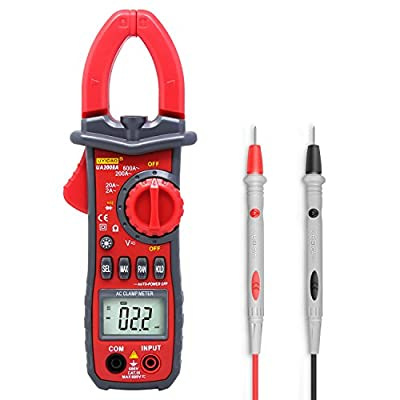 Digital Clamp Meter Testing,UYIGAO 6000 Counts Auto-ranging Multimeter with AC/DC Voltage, Resistance, AC Current, Diode Test, Build in Flashlight and 3 Number Digital LCD Display