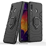 Cocomii Black Panther Armor Galaxy A30/A20 Case New [Heavy Duty] Tactical Metal Ring Grip Kickstand Shockproof Bumper [Works with Magnetic Car Mount] Cover for Samsung Galaxy A30 (B.Jet Black)