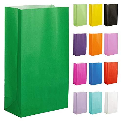 Thepaperbagstore 20 Papiertüten für Partys und Geschenke - Grün - 140x245x70mm