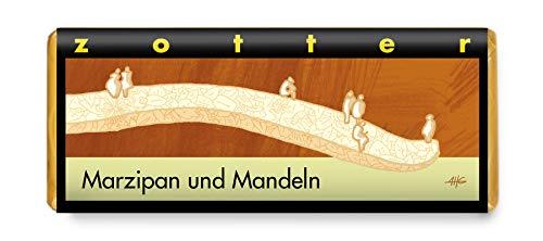 Zotter Handgeschöpfte Schokolade Marzipan und Mandeln 70 g
