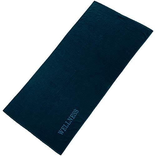 aqua-textil Wellness Saunatuch 80 x 200 cm Uni dunkel blau Baumwolle Frottee Sauna Handtuch Strandtuch