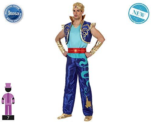 Atosa-62720 Atosa-62720-Disfraz Genio-Adulto XL- Hombre- azul, Color (62720) , color/modelo surtido