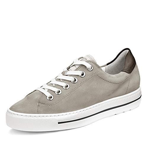 Paul Green Damen Sneaker 4741, Frauen Low-Top Sneaker, Plateau-Sohle Lady Ladies feminin elegant Women's Woman leger,Cloud/White,37.5 EU / 4.5 UK