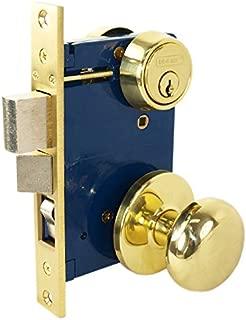 Tuff Stuff 5122AR Heavy Duty Mortise Lockset Ornamental Iron Gate Door Double Cylinder 2-1/2