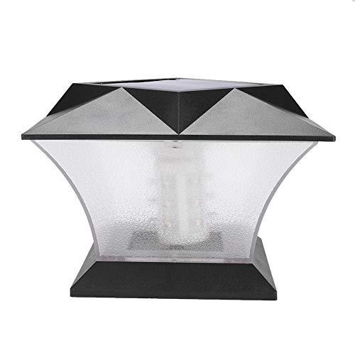 Ejoyous Pfosten Kappen Solarlichter, Beleuchtet wasserdichte Lichter Solarbetriebene Solarzaun-Lampe Garten-Lampe Hof-Lampe für hölzerne Pfosten Plattform Patio Zaun 18 * 18 * 14 cm