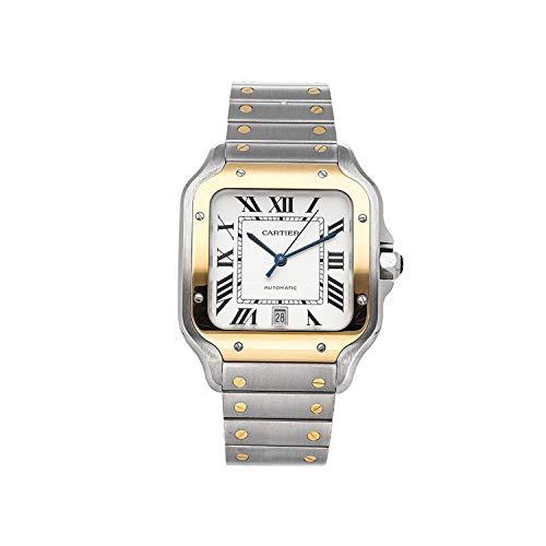 Cartier W2SA0006 - Reloj de Pulsera para Hombre, Acero opalino Plateado automático y Oro Amarillo de 18 Quilates