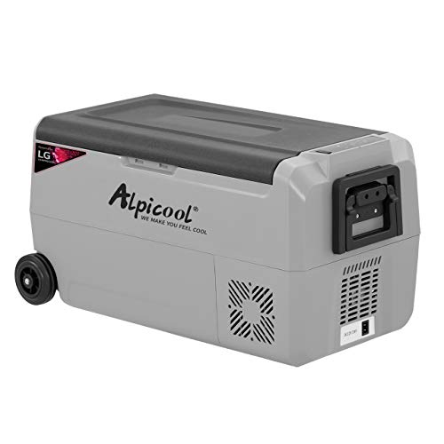 Alpicool T36 Car Fridge Freezer 36L Portable Car Refrigerator 12V 24V Electric Cooler for Camping, Road Trip, Picnic, Minimum -20℃