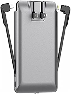 PhoneSuit   Apple Charger & Power Bank   All-in-One Portable Charger   Cell Phone Battery Backup   Built-in Wall Plug AC Adapter, Lightning & Micro USB Cables   USB Ports   3500 mAh   iPhone, Samsung