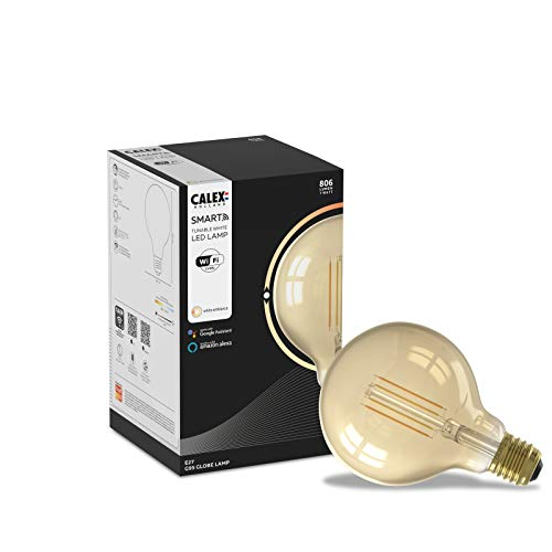 CALEX Smart Home - Bombilla LED con filamento dorado G95 E27 220-240V 7W 806lm 1800-3000K goud