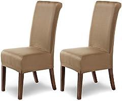 SCHEFFLER-Home Stretch Stuhlhusse Marie   elastische Stuhlabdeckung mit Fleckschutz   Stuhlhussen Schwingstühle  ...