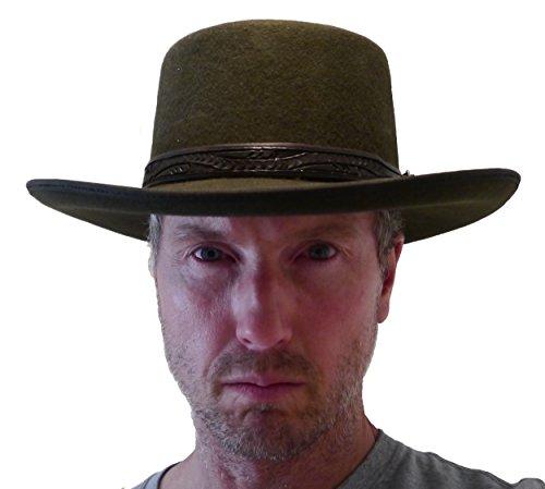 Straightline Clint Eastwood Spaghetti Western Cowboy Hat - Wool Felt (7 3/8) Brown