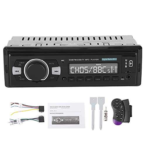 Vehículo Radio digital Sistema estéreo Reproductor de audio DVD Receptor DAB/FM Puerto USB dual Soporte AUX DAB-DR9 Soporte U Disco
