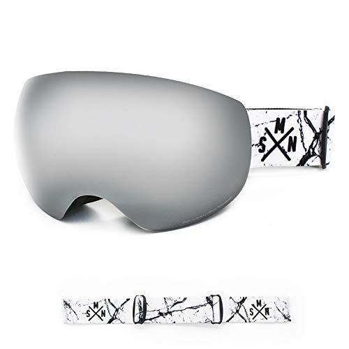 InChengGouFouX Goggle Skibril UV-glazen en rieten en andere buitensporten beslaan wind dubbele lens bril
