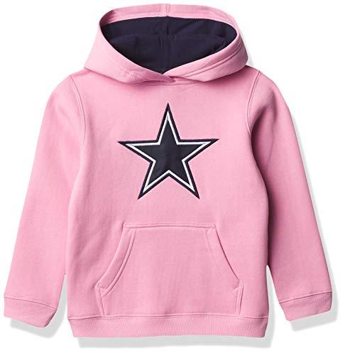 Dallas Cowboys NFL Girls Prime Girls Fleece Pullover Hoodie, Pink, 6X