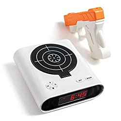 SHARPER IMAGE Laser Target Alarm Clock for Heavy Sleepers, Blast The Bullseye to Turn Off