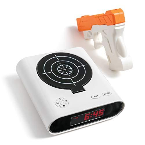 SHARPER IMAGE Laser Target Alarm Clock for Heavy Sleepers, Blast The Bullseye to Turn Off