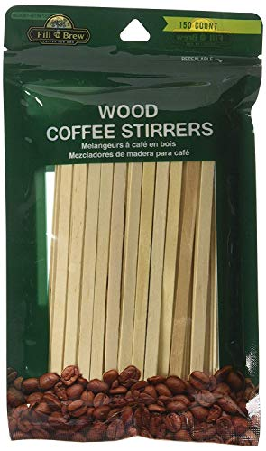 LaMi Wood Coffee Stirrers, 150 Count