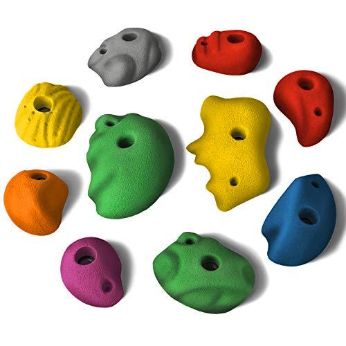 ALPIDEX 10 M - XL Klettergriffe verschieden geformte Sloper, ergonomische, kantenfreie Oberfläche, Farbe:Mixed Colour