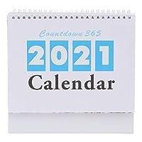 BESTOYARD カレンダー 2021年 卓上カレンダー 時間計画 デスクトップの装飾 インテリア(カラー1)