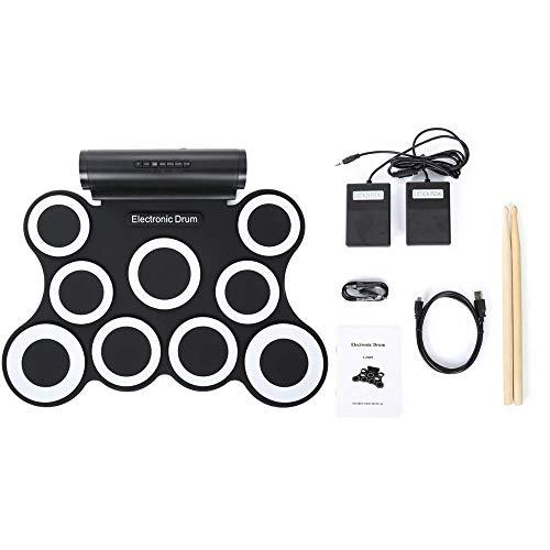 Batería electrónica, Ejercicio Drum Pad de Electronic Drum Set plegables portátiles Niños,...