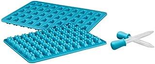 Silikon Gummibärchen-Formen mit Pipetten - Set aus 2 Gummibären-Formen und 2 Pipetten inkl. Rezept ohne BPA