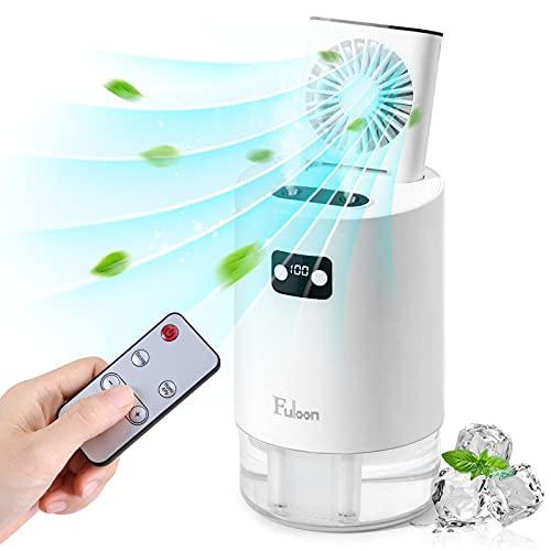 Luftbefeuchter mit Ventilator, Fuloon Spray Luftbefeuchter mit Heben versteckten Lüfter, Reise tragbare USB Luftbefeuchter Fan mit 1L Wassertank und 3 Windgeschwindigkeiten Geräuscharm