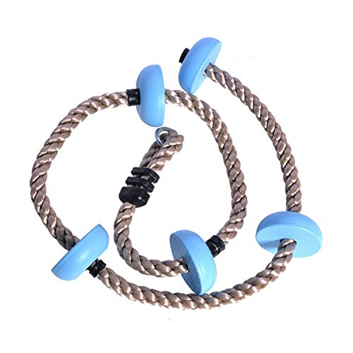 happypie Kletterseil für Kinder 1.8m mit Mehrzweck Kunststoff Knoten Maximale Belastung 70kg Blau