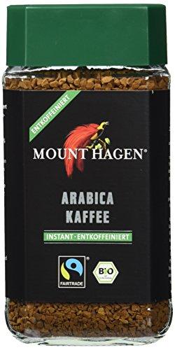 Mount Hagen Bio-Arabica Instant entkoffeiniert FairTrade, 2er Pack (2 x 100 g)