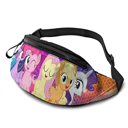 Anime My Little Rainbow Pony Waist Pack Bag Casual Fanny Pack for Men & Women With Adjustable Belt Sports Bag Running Bag Keep Fit With Exercise Jogging, Hiking Chest Pack Shoulder Bag
