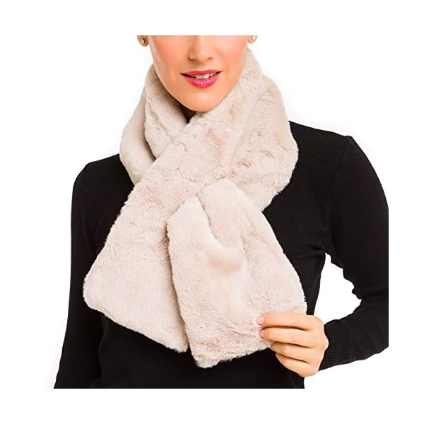 Fur Collar Scarf for Women Faux Fur Scarves Neck Shrug for Fall Winter Coat Dress