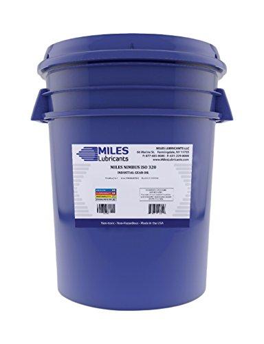 MILES LUBRICANTS Nimbus ISO 320 Industrial Gear Oil, 5 gal, Pail (M00600503)