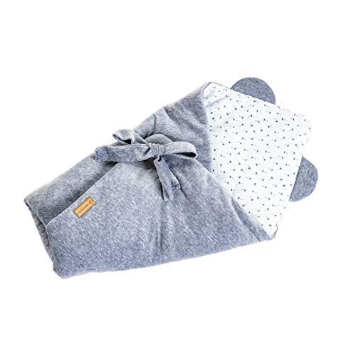 SERIMANEA Säuglings-Velours-Babyhörnchen Superweiche Wickeldecke Warmer Schlafsack für Neugeborene Geschenk für Baby Shower oder Säuglingsausstattung