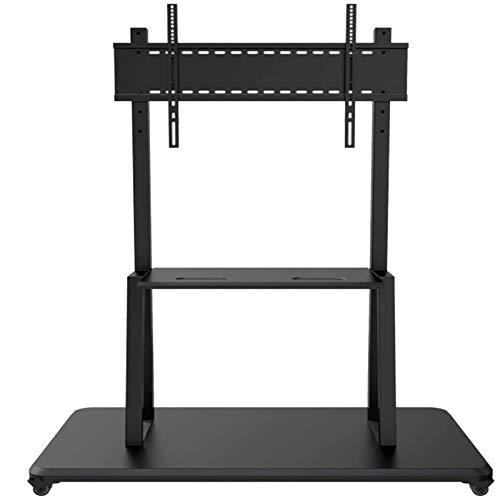 Universal TV Soporte LCD TV Monitor Rack Rotating Rack Soporte de Plataforma Plegable con Soporte para 40-100 Pulgadas Soporte inclinable Alturas Ajustables Sostiene 80kgs (Color : Black)