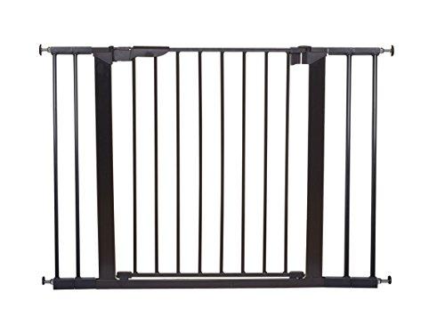 BabyDan Premier Türschutzgitter / Treppenschutzgitter zum Klemmen, 99 - 106.3 cm - hergestellt in Dänemark und vom TÜV GS geprüft, Farbe: Schwarz