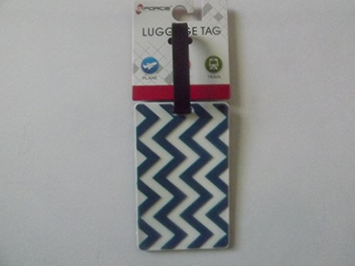 Luggage Tag Zig Zag Design Sold by Joyce Williams (Green & White)