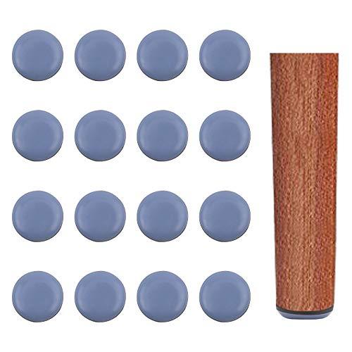 INCREWAY Protectores de piernas adhesivos para muebles, 16 protectores de piernas redondos autoadhesivos para sillas de 40 mm, almohadillas deslizantes para muebles (azul)
