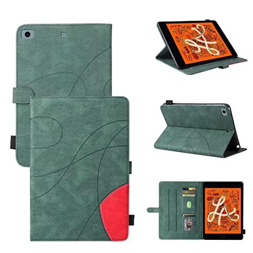TUUNKMUY Funda para iPad Mini 2 3 4 5 Tableta Cubierta, Premium PU Cuero Ligero Delgado Ligero Smart Shell Stand Cover Back Protectors, Verde
