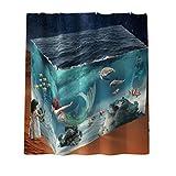 Topbathy - Juego de cortinas de ducha (impermeable), diseño de sirena