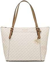 Michael Kors Women's Ciara Large Top Zip PVC Leather Tote Shoulder Bag