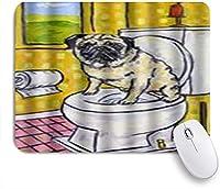 NIESIKKLAマウスパッド 面白い犬かわいい動物 ゲーミング オフィス最適 高級感 おしゃれ 防水 耐久性が良い 滑り止めゴム底 ゲーミングなど適用 用ノートブックコンピュータマウスマット