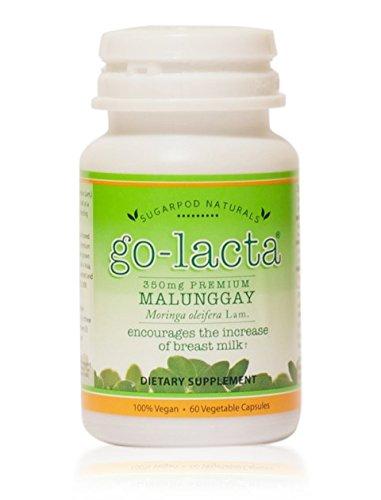 Go-Lacta Premium Malunggay (Moringa oleifera Lam.) Breastfeeding Supplement Clinically Proven to Support Lactation (60 Capsules)