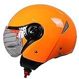 Casco De Motocicleta Casco Eléctrico Masculino Casco Retro Femenino Casco De Verano Sombrero Duro